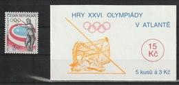 MiNr. 116 + MH 35 Tschechische Republik: 1996, 29. Mai. Olympische Sommerspiele, Atlanta. - Tschechische Republik