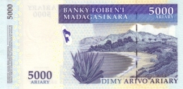 MADAGASCAR P. 91b 5000 A 2007 UNC - Madagascar