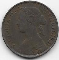 Grande Bretagne - Farthing 1860 - 1816-1901 : Frappes XIX° S.