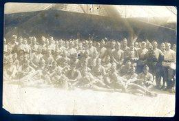Cpa Carte Photo Groupe De Militaires  SEPT18-25 - Régiments