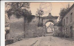Cp , 02 , COUCY-le-CHÂTEAU , La Porte De Chauny - Autres Communes