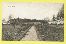 * Onze Lieve Vrouw Waver (Antwerpen - Anvers) * (E. & B.) Institut Des Ursulines, Vers Le Halle, Jardin, Tuin, Garden - Sint-Katelijne-Waver