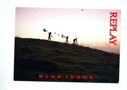 Carte Publicite Blue Jeans  Replay Theme Velo - Advertising