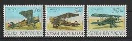 MiNr. 127 129 Tschechische Republik: 1996, 9. Okt. Alte Flugzeuge. - Tschechische Republik