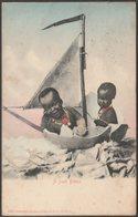 A Fresh Breeze, South African Children, 1905 - Sallo Epstein Postcard - Humour