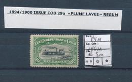 BELGIAN CONGO COB 29a REGUM - 1894-1923 Mols: Nuovi