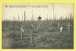 * Houthulst (Ieper - West Vlaanderen) * (Nels) Ruines De La Foret D'Houthulst 1914-18, Cimetière Allemand, Cemetery - Houthulst