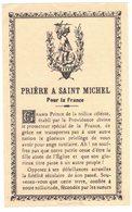 IMAGE PIEUSE RELIGIEUSE HOLY CARD SANTINI HEILIG PRENTJE PAPIER : Prière à SAINT MICHEL - Joseph Evêque De COUTANCES - Images Religieuses