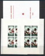 Gabon 1966 Red Cross Booklet Wilt 2 Panes MUH - Gabon
