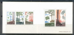 Gabon 1967 Trees Complete Booklet MUH - Gabon