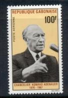 Gabon 1968 Konrad Adenauer MUH - Gabon