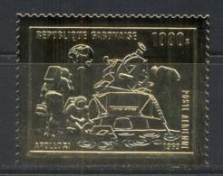 Gabon 1969 Apollo 11 Space Moon Landing Gold Foil Embossed MUH - Gabon