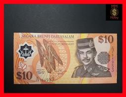 BRUNEI  10 Ringgit 1998  P. 24 B   POLYMER UNC - Brunei