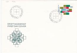 Liechtenstein FDC 1967 EFTA  (G95-4) - Organizations