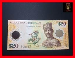BRUNEI  20 Ringgit 2007  P. 34 A  *COMMEMORATIVE* POLYMER  UNC - Brunei