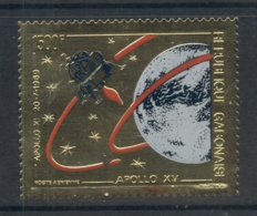 Gabon 1971 Apollo 15 Space Mission Gold Foil Embossed - Gabon