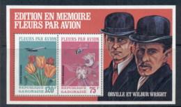 Gabon 1971 Flowers & Plane, Wright Brothers MS MUH - Gabon