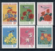 Gabon 1971 Flowers & Plane, Wright Brothers MUH - Gabon