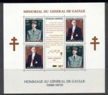 Gabon 1972 Charles De Gaulle MS Opt MUH - Gabon