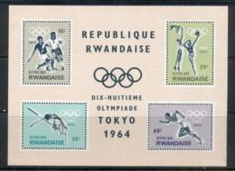 Rwanda 1964 Summer Olympics Tokyo MS MUH - Rwanda