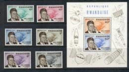 Rwanda 1965 JFK Kennedy & Satellite + MS MUH - Rwanda