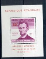 Rwanda 1965 Lincoln Death Centenary MS MUH - Rwanda