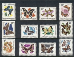 Rwanda 1965-66 Insects, Butterflies MUH - Rwanda