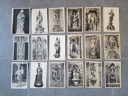 Lot 18 Cartes Postales Sur Les Statues Des Différentes églises De Tournai - Edition De La Maison Moers - Tournai