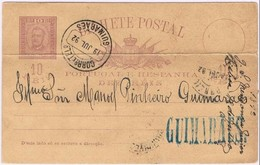 Portugal, 1892, Lisboa-Guimarães - Lettres & Documents