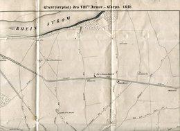 "Lith. V. Gebr. Beche I. Coblenz / ""Exerzierplatz Des VIII. Armee Corps"", 38x28 Cm (20167) - Documents Historiques"
