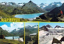 1 AK Österreich Vorarlberg * Ansichten Der Gebirgsgruppe Silvretta - Mehrbildkarte * - Österreich