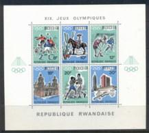 Rwanda 1968 Summer Olympics Mexico City MS MUH - Rwanda