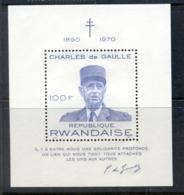 Rwanda 1971 Charles De Gaulle MS MUH - Rwanda