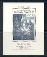 Rwanda 1971 Xmas Nativity MS MUH - Rwanda