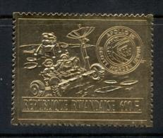 Rwanda 1972 Apollo 15 Space Mission Gold Foil Embossed MUH - Rwanda