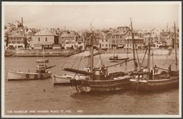 The Harbour And Wharfe Road, St Ives, Cornwall, C.1950s - Constance RP Postcard - St.Ives