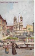 AK 0050  Roma - Santa Trinità  Dei Monti / Künstlerkarte Um 1911 - Iglesias