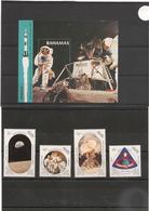 BAHAMAS Anniversaire 1er Homme Sur La Lune Année 1989 N°Y/T : 691/94** Et Bloc 55** Côte: 15,50 € - Bahama's (1973-...)