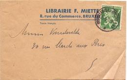Wikkel Brochure - Bandelette D'enveloppe - Librairie Miette Bruxelles - 1945 - Entiers Postaux