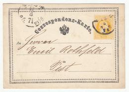 Austria Postal Stationery Correspondenz-Karte Travelled 1871 B181010 - Ganzsachen