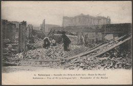 Reste Du Marché, Incendie De Salonique, 1917 - Edition Parisiana CPA - Greece