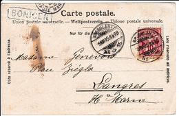 Carte Postale Bönigen Suisse 1905 Langres Haute Marne Ambulant - Covers & Documents