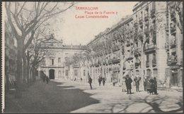 Plaza De La Fuente Y Casas Consistoriales, Tarragona, C.1910 - Fototipia Thomas Tarjeta Postal - Tarragona