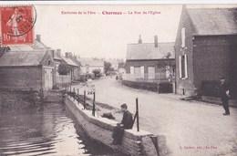 Carte 1907 ENVIRONS DE LA FERE / CHARMES / LA RUE DE L'EGLISE - France