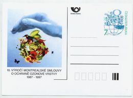 CZECH REPUBLIC 1997 7 Kc Postcard Montreal Ozone Agreement Unused.  Michel P29 - Postal Stationery