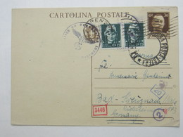 1942 , Cartolina Postale A Germania - 1900-44 Vittorio Emanuele III