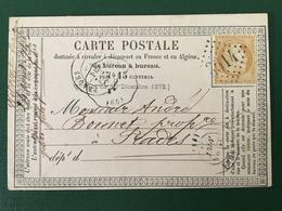 France - N°59 Sur Carte Précurseur - GC 3014 - Prades, Convoyeur Station Perpignan - (F148E) - 1871-1875 Cérès