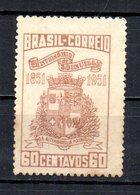 BRAZIL 1951 MINT NO GUM - Unused Stamps