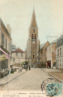 CPA - BRUNOY (91) - Aspect De La Quincaillerie, De La Pharmacie Bastide Et De L'Eglise St-Médard En 1904 - Brunoy