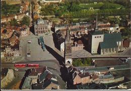 SAINT-GHISLAIN - Panorama De La Grand'Place, L'Hôtel De Ville, L'église Paroissiale, La Tour Saint-Martin - Saint-Ghislain